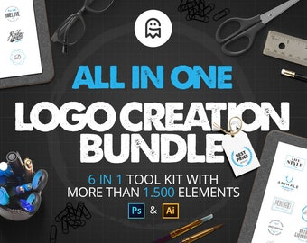 All in One Logo Creation Bundle / Kit / Collection / Tools for Logo Design / Branding / Corporate Design