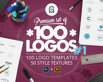 Premium Set of 100 Logo Templates 01