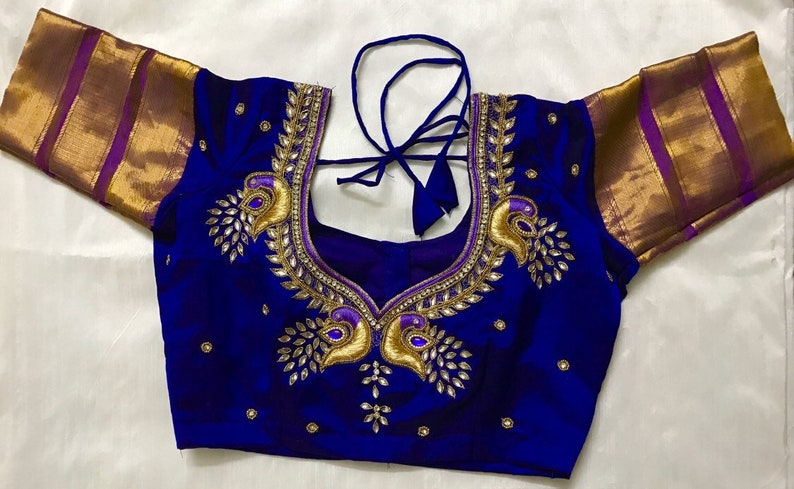 Peacock Embroidery Designer Blouse Etsy,Jamaican Toe Nail Designs