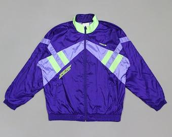 f615c44ba Adidas Vintage Logo Acid Purple Light Jacket Baggy Fit