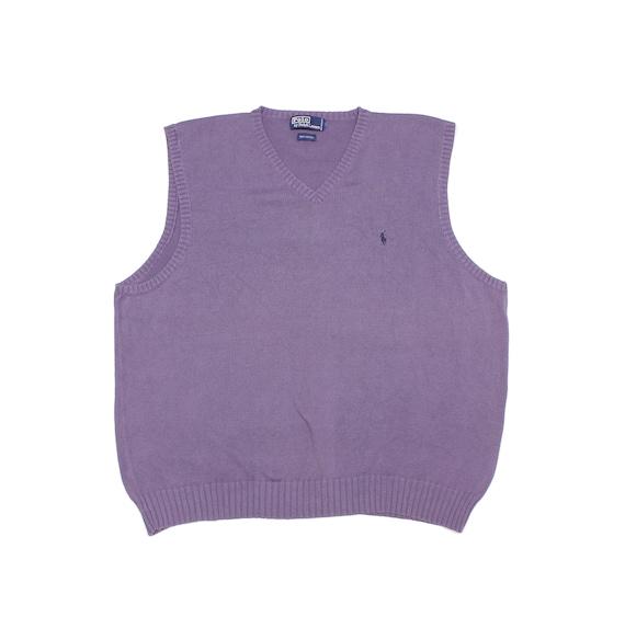 Polo Ralph Lauren 90S Logo Knit Vest Vintage