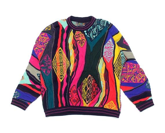 Coogi Acid Rainbow Vintage Wool Knit