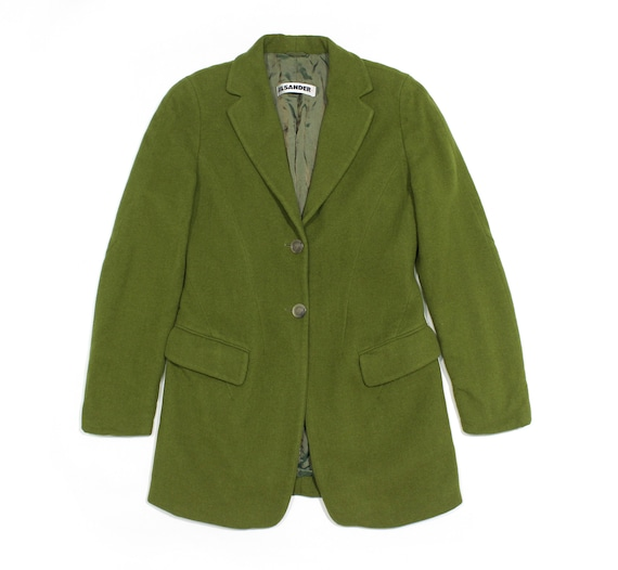 Jil Sander+ 90S Wool Green Short Coat Vintage
