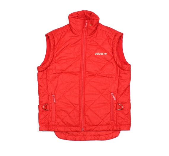 Adidas 80S Logo Quilted Pin Vest Vintage
