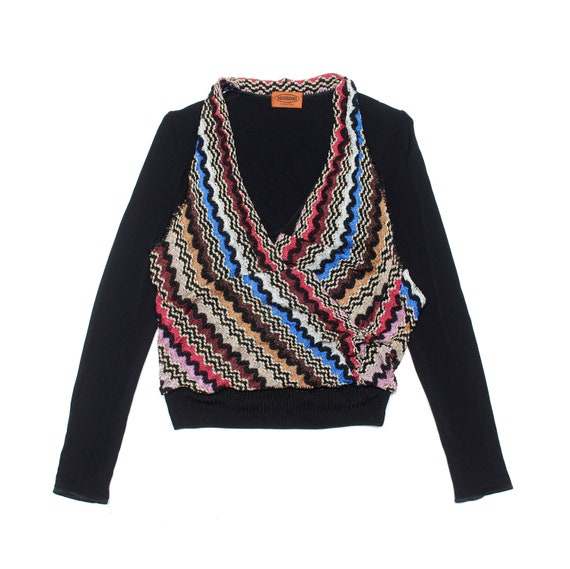 Missoni Embroidered Multicolor Vintage Sweater