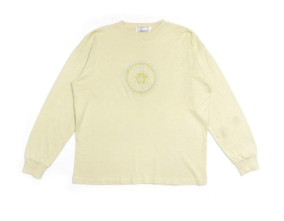 Gianni Versace 80S Medusa Big Logo Sweatshirt Vint