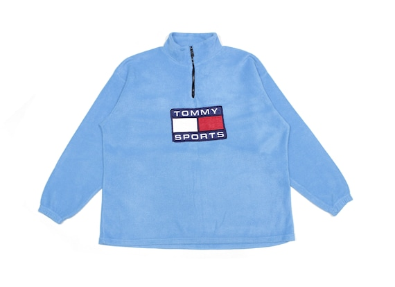 Tommy Sports 90S Embroidered Big Logo Fleece Vinta