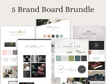 Brand Board Bundle - 5 brand board templates pack