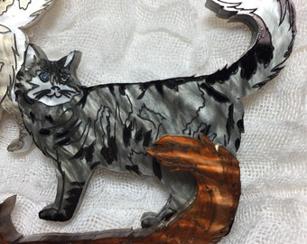 The Perfect Moggy Cat Brooch