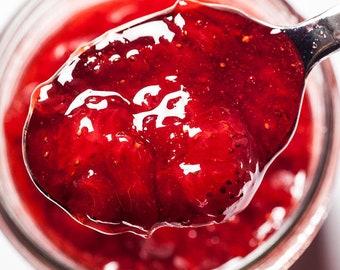 Organic Strawberry Jam from Vologda, Berries spread, Jelly Berries Preserve, Russian Natural Preserve, Gourmet jam