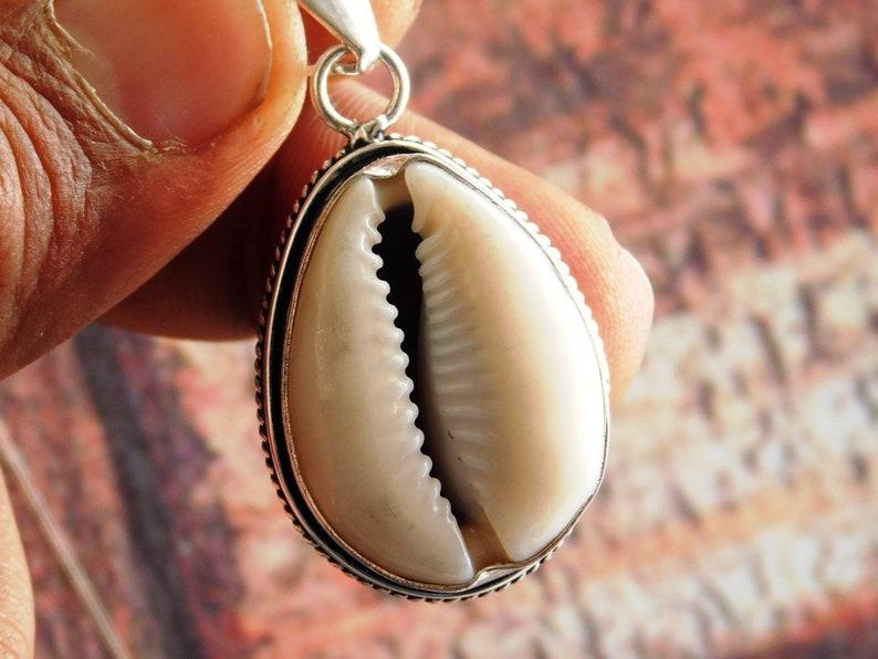 gift pendant, Cowrie Shell Pendant,Money Cowrie Shell Pendant Sterling Silver Cowrie Shell pendant,Handmade shell Jewelry Pendant