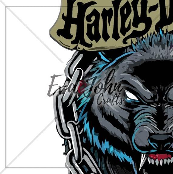Harley Davidson Seguir a nadie / Jpg Svg Eps Png Dfx / Cutfiles para Silhouette Cameo o Cricut