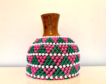 Pink and Green Triangle Shekere