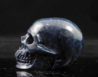 Crystal Skull Dumortierite Skull