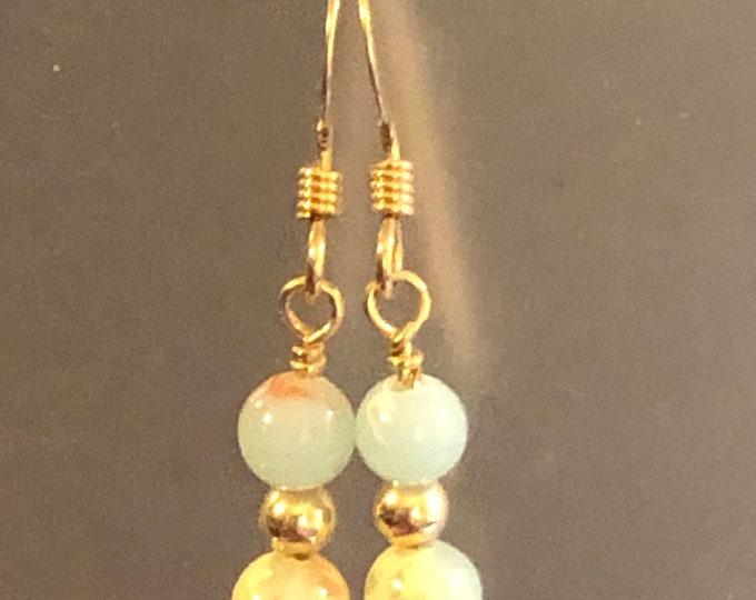 4mm Imperial Jasper Natural gemstone earrings on 14kt gold filled earring wires Spiritual healing