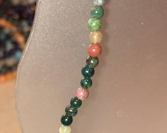 Fancy Jasper 4mm stretch bracelet stackable dainty delicate gemstone bracelet