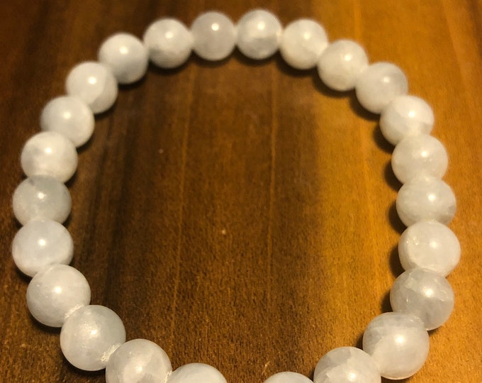8 mm 100% Natural AAA BLUE CELESTITE Stretch Bracelet Gemstone Bracelet  Men Bracelet Women Bracelet Not treated Helaing