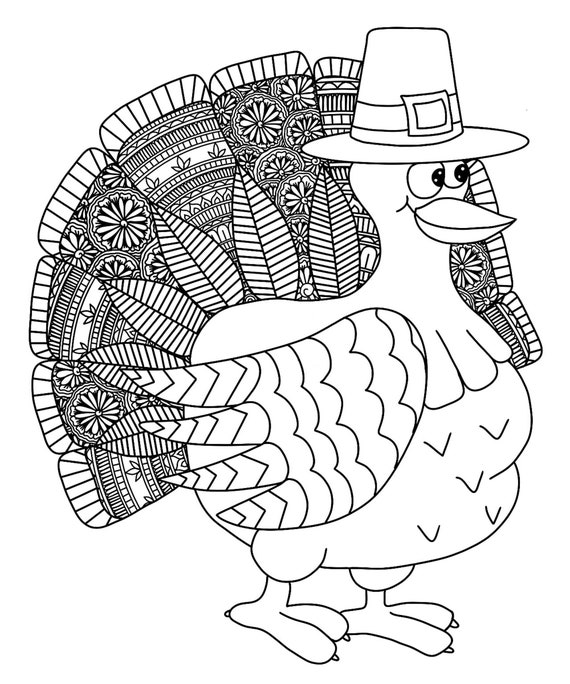 Turkey Mandala Art Printable Turkey Colouring Page