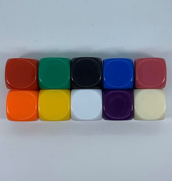 Opaque Blank Custom Dice