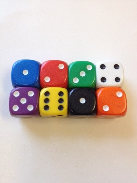 Opaque Custom Blank 6 Side Dice
