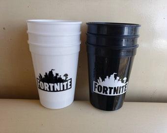 12oz plastic reusable cups, game party favors