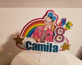 Jojo Siwa personalized cake topper, centerpiece, party decoration