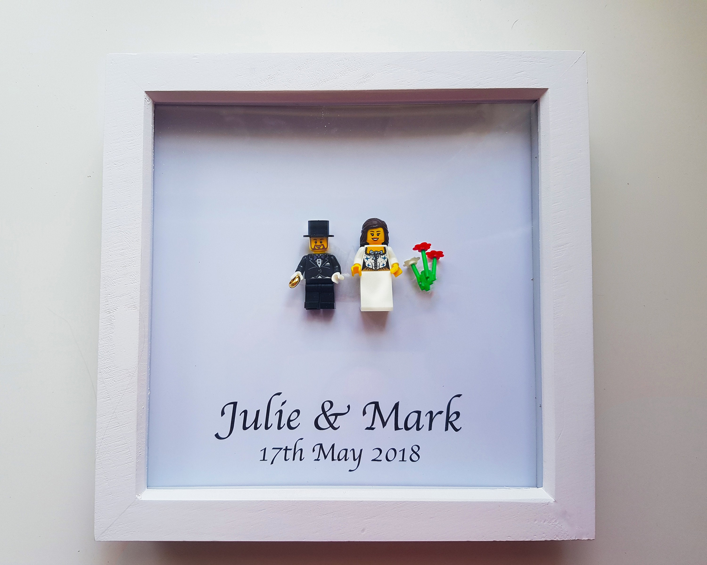 Personalised Wedding Lego Frame Lego Bride Groom Etsy