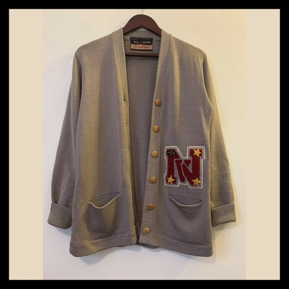 Vintage 1940s/ 1950s LA All Star Varsity Letterman