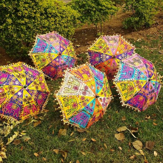 af355d5e73758 7 Pcs Lot Indian Wedding Umbrella Decoration Mirror Work | Etsy