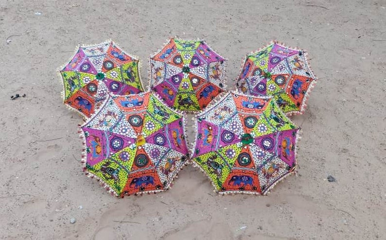 66656ec5c40d1 5 Pcs Lot Indian Umbrella Wedding Decoration Handmade Ethnic | Etsy