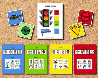 Self-Regulation Full Page Set, Self-Regulation Wall Pictures, Self-Regulation Printable, Self-Regulation for Children