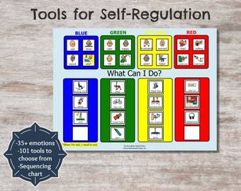 Tools for Self-Regulation, Zones of Regulation, Sensory Diet, SPD Tools, printable sensory diet, printable visual support, sensory diet