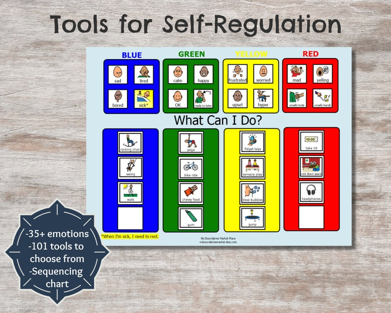 This is a picture of Zones of Regulation Printable for red zone