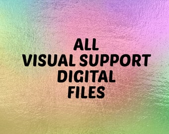 All Visual Support Digital Files In the Shop, Self-Regulation Bundle, Printable Routines, PECS, Boardmaker Printables, Printable Schedules