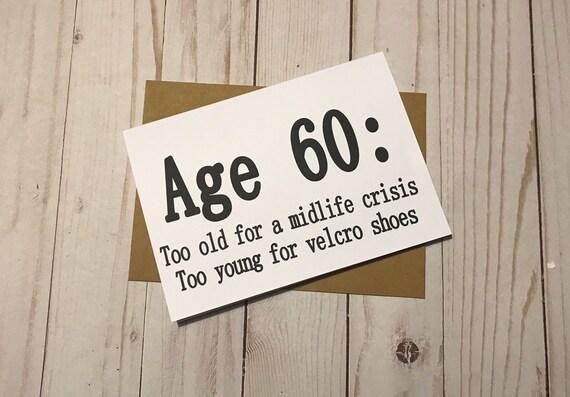 60th Birthday Card Funny 5x7