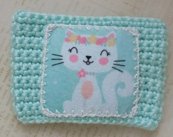 Pretty Kitty Pocket Coffee Cozy Flower Crown