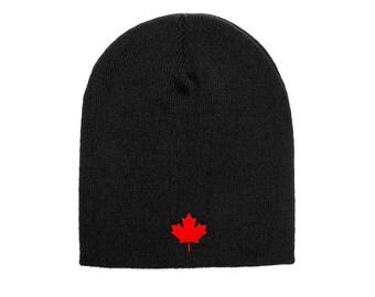 65b0910a3cd Canada Beanie - Canada Lifestyle Canada Flag Red Maple Leaf