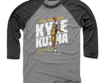 9d61e30c13e Kyle Kuzma Shirt   Raglan   Los Angeles L Basketball   Men's Baseball  T-Shirt   Kyle Kuzma Slam W Wht