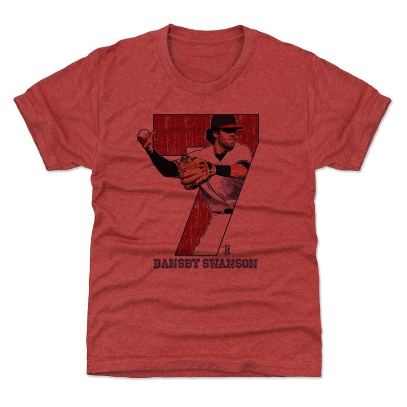 new products a3afb 240b7 Dansby Swanson Kids T-Shirt | Atlanta Baseball | Youth Shirt | Dansby  Swanson Game R