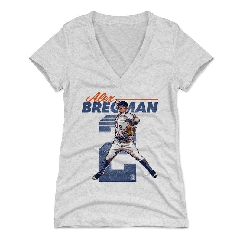 online store d5227 13520 Alex Bregman Women's Shirt | Houston Baseball | Women's V-Neck | Alex  Bregman Retro B