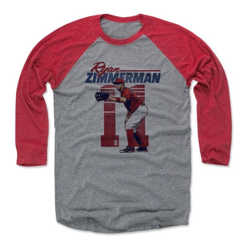 info for d929f e24a9 Ryan Zimmerman Shirt | Raglan | Washington Baseball | Men's Baseball  T-Shirt | Ryan Zimmerman Retro R