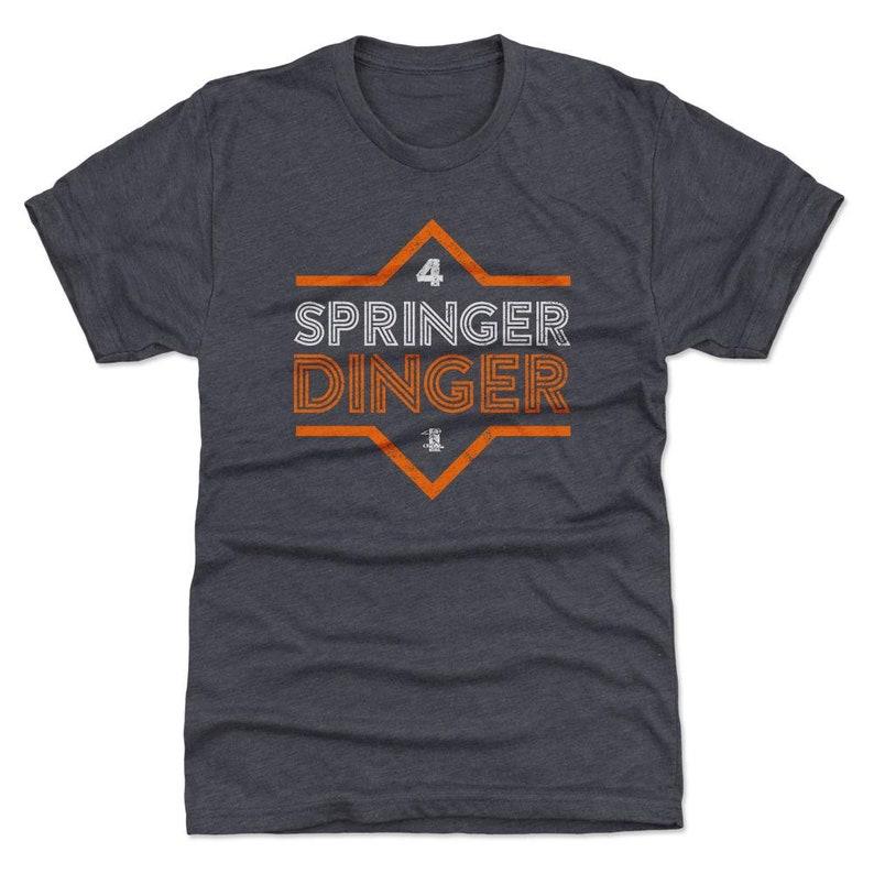 low priced 0024a c8dae George Springer Shirt   Houston Baseball   Men's Premium T-Shirt   George  Springer Dinger O Wht
