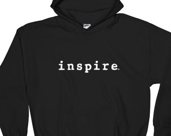 inspire Brand Pull Over Hoodie Hooded Sweatshirt - Great Gift - Comes In 4 Colors - 50 / 50 Cotton Polyester