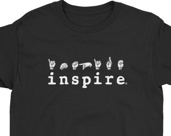 inspire ASL American Sign Language Youth Short Sleeve Tee T-Shirt