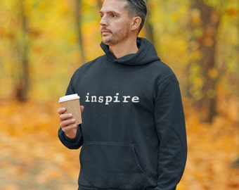 inspire Brand Hoodie - Great Gift - Comes In 4 Colors - 50 / 50 Cotton Polyester
