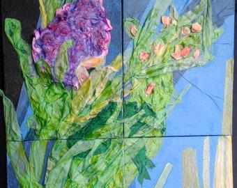 Spring 18, 1-4 botanical paper relief sculpture