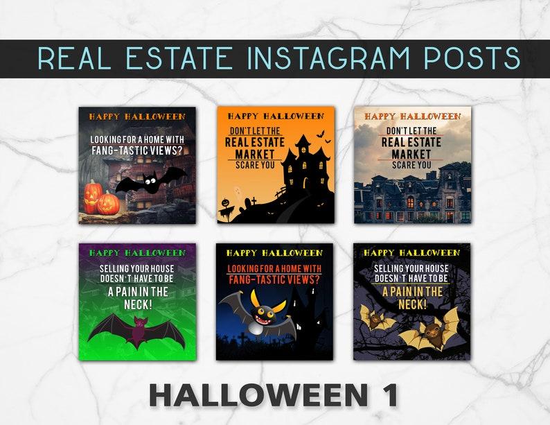 Halloween Real Estate Social Media Posts Etsy