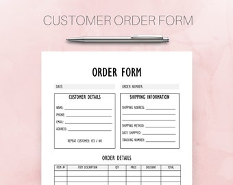 custom order form etsy
