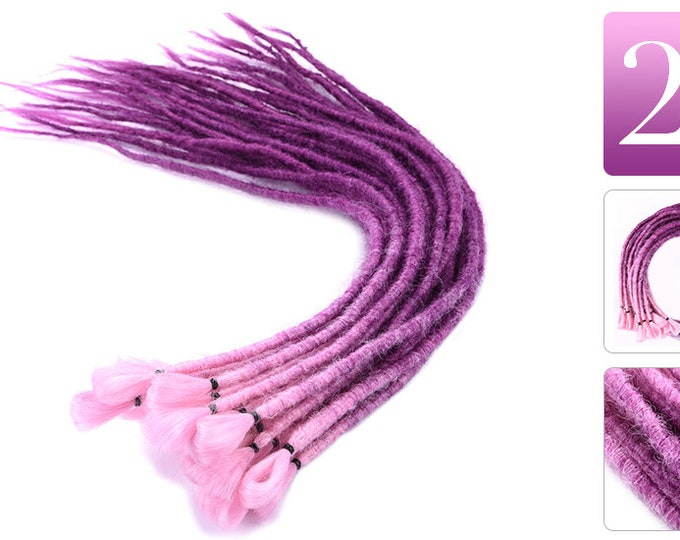 "SYNTHETIC DREADLOCK EXTENSIONS - 20""- Permanent Or Removable - Crochet Style Dreadlock Extensions"
