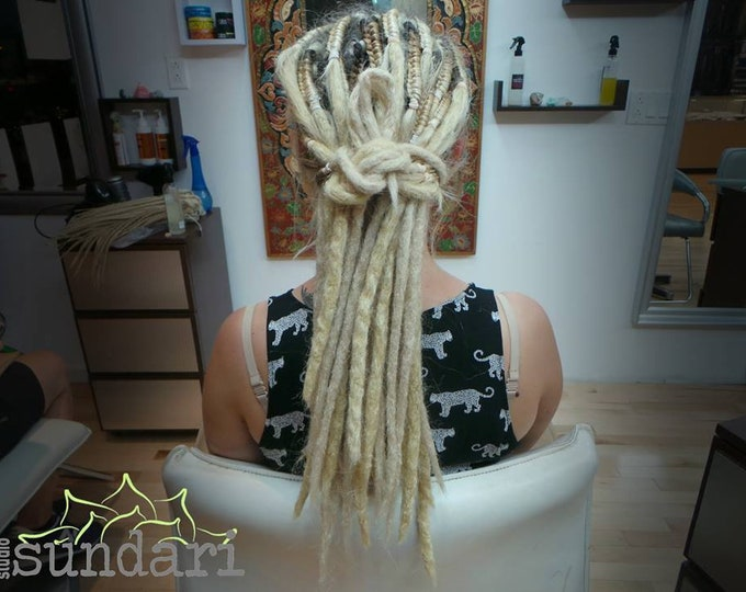 "20""- 10 pieces- Synthetic Crochet Style Dreadlock Extensions"